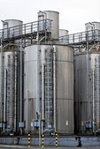 Large industrial silo outdoors — Foto de Stock