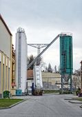 Large industrial silo outdoors — Foto Stock