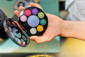 Paleta de maquillaje compacto — Foto de Stock