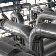 Industrial pipes in thermal power plant — Stock Photo #26442265