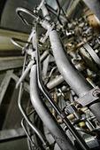 Grande gerador industrial closeup — Foto Stock