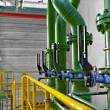 Industrial pipes in a power plant — Stock Photo #26590977