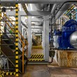 Industrial interior of a power plant — Stock Photo