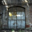 Industrial door of a factory — Stock fotografie