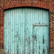 Industrial door in blue colors — Stock Photo