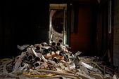 Scrap metal piled up — Stock Photo