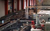 Beer factory interior — Stock Photo