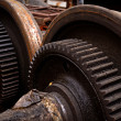Rusty industrial machine parts — Stock Photo