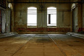 Industrial interior with bright light — Stock Photo