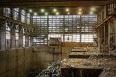 廃棄物処理工場内の様子 — ストック写真