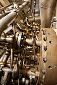 Large industrial generator closeup — Stock Photo