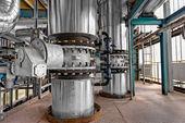 промышленных труб в тепловой электростанции — Стоковое фото