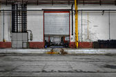 Industrial door of a factory — Stock Photo