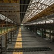 Industrial interior of an old factory — Stockfoto