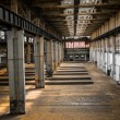 Industrial interior of an old factory — ストック写真