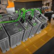 Industrial electricity inverters — Stockfoto