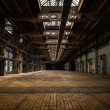 Industrial interior of an old factory — Foto Stock