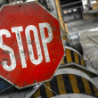 Rusty old STOP sign — Stock Photo