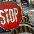 Rusty old STOP sign — Stockfoto