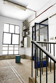 Old indsutrial staircase — Stock Photo