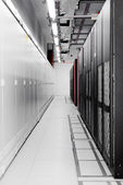 Clean industrial interior of a server room — Stock Photo