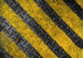 Yellow and black industrial texture — Stock Photo