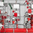 Large CO2 fire extinguishers in power plant — Stock Photo #32260849