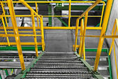 Industrial Interior with large staircase — Stock Photo