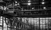 Wnętrza zakładu przetwarzania odpadów — Zdjęcie stockowe