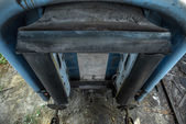 Train door closeup photo — Stock Photo