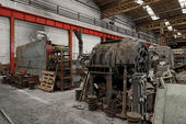 Industrial machines in a factory — Stok fotoğraf