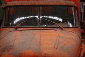 Closeup foto de un vehículo industrial — Foto de Stock