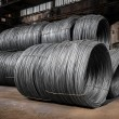 Large coil of Aluminum wire — Stock Photo #34841167
