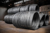 Large coil of Aluminum wire — Stock Photo
