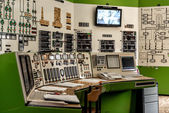Control panel of a power plant — Stok fotoğraf