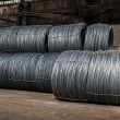 Large coil of Aluminum wire — Stock Photo #35116849