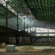 Large industrial hall under construction — Stock Photo