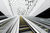 Moving escalator in the business center — Foto Stock