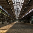 Stock Photo: Large industrial hall of repair station