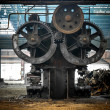 Large industrial hall with cogs — Stock Photo #35989515