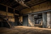 Industrial interior of an old factory — Stock Photo