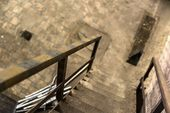 Abstract detail of rusty stairs — Stock Photo