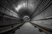 Underground tunnel for the subway — Stock Photo