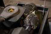 Máquina industrial piezas closeup — Foto de Stock
