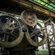 Large industrial hall with cogs — Stock Photo #39213121