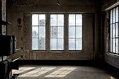 Industrial interior with br light — Stock Photo