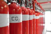 Extintores de co2 grande — Foto Stock