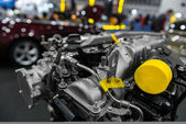 Detail photo of a car engine — Stock Photo
