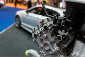 Detail photo of a car engine — Stockfoto