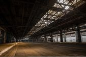 Large industrial hall of a repair station — Stock Photo